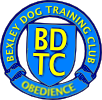 A wreath around a shield bearing 'BDTC' The wreath reads 'Bexley Dog Training Club' above and 'Obedience' below